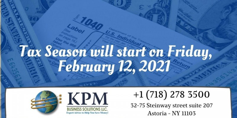 2021 tax filing season begins February 12