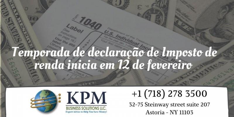 Temporada de declaração de imposto de renda inicia em 12 de fevereiro
