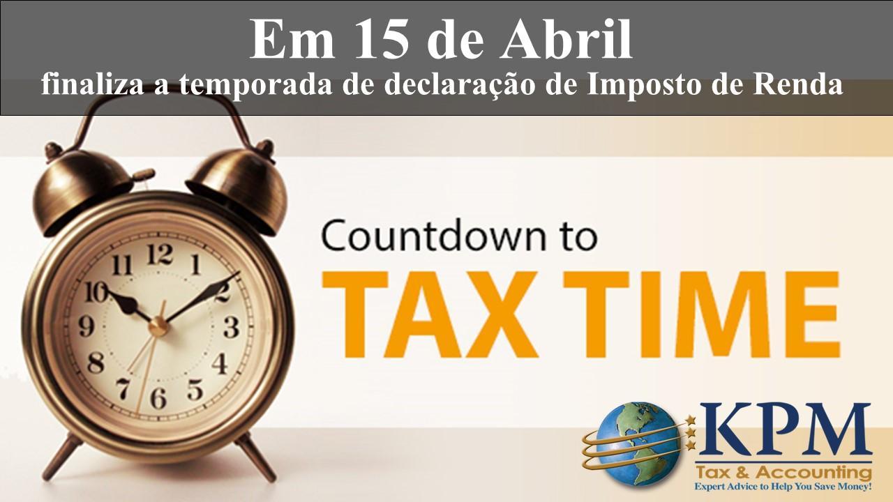 Contagem regressiva para Declaração de Imposto de Renda
