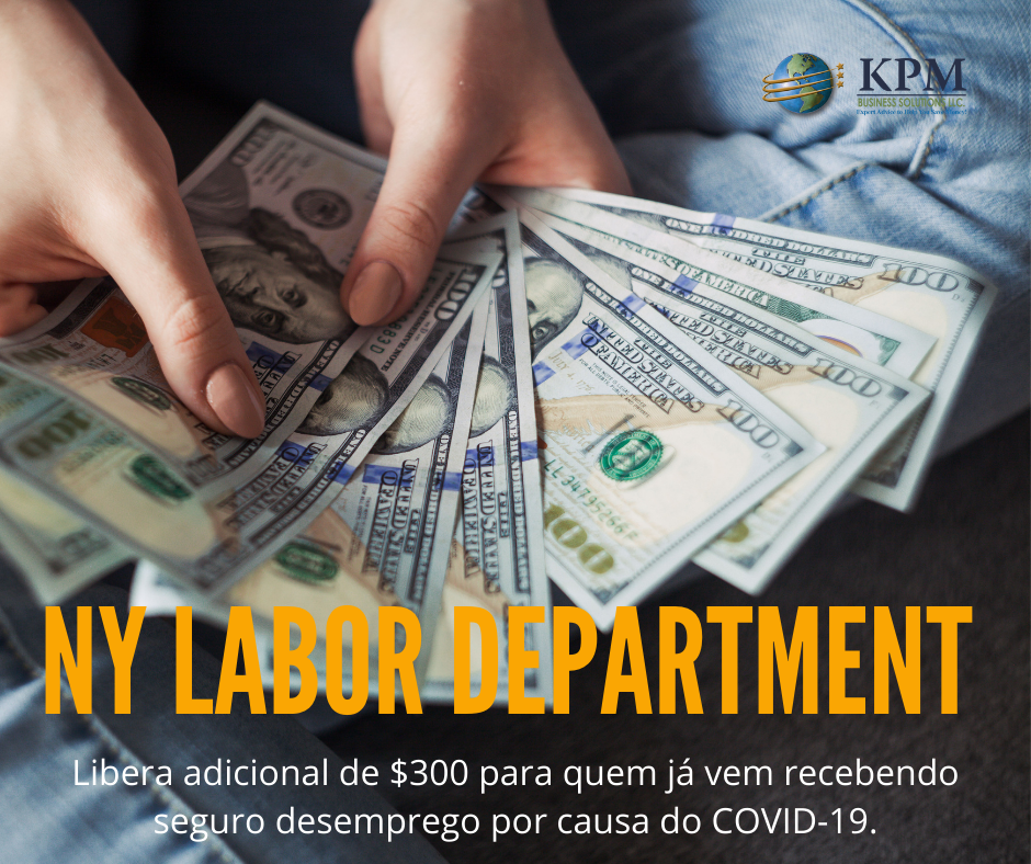 NY Labor department libera essa semana beneficio extra relacionado ao seguro desemprego